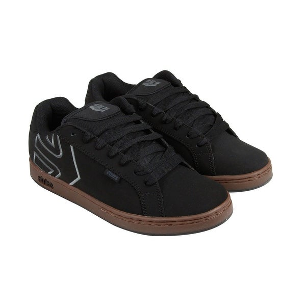 Etnies Fader Mens Black Suede Lace Up Sneakers Shoes