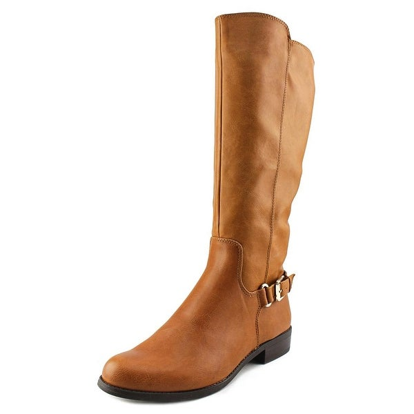 Alfani Jarabina Women Round Toe Synthetic Tan Knee High Boot