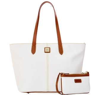 Dooney & Bourke Eva Large Zip Shopper and Wristlet (Introduced by Dooney & Bourke at $268 in Jan 2016) - White