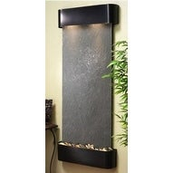 Adagio Inspiration Falls With Black Featherstone in Blackened Copper Finish and