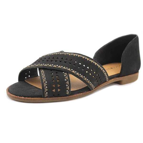 Lucky Brand Gallah 2 Women Open Toe Leather Black Sandals