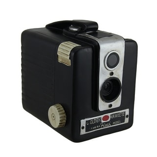 Retro Brownie Hawkeye Vintage Style Camera Coin Bank - 5 X 5 X 4 inches