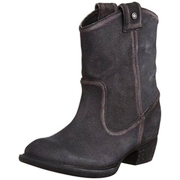 Diesel Womens Ladala Cowboy, Western Boots Suede Distressed