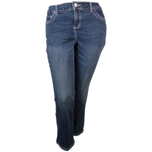 INC Women's Boot Leg Slim Tech Fit Jeans - tidal wash