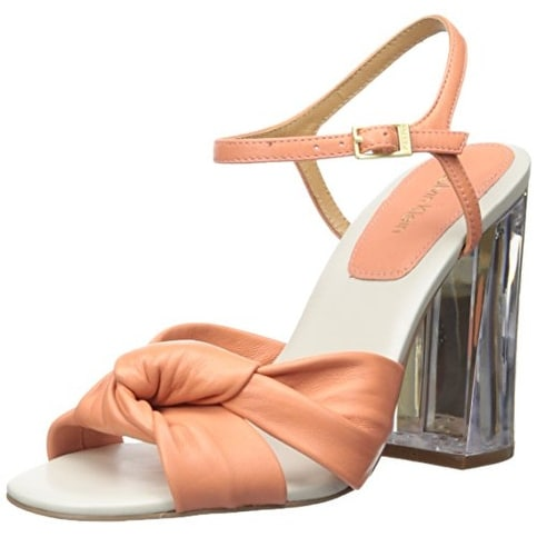 Calvin Klein Womens Laureen Cervo Open Toe Special Occasion Ankle Strap Sandals