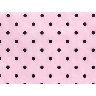 """Pack Of 240, Black Dots On Pink Recycled Tissue 20"""" X 30"""" Sheets Tissue Prints For Packaging Made In Usa 100% Recycled"""