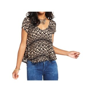 Ultra Flirt Womens Juniors T-Shirt Open Back Printed
