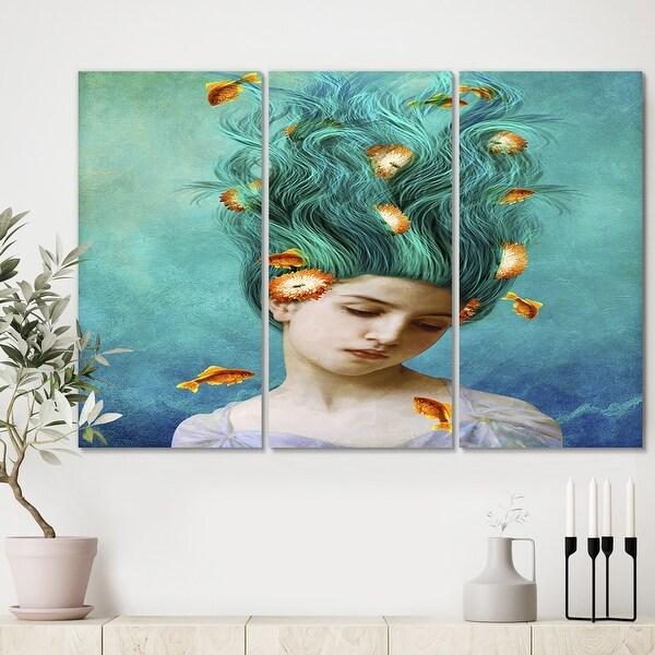 Designart 'Sweet Allure' Modern Canvas Wall Art - 36x28 - 3 Panels. Opens flyout.