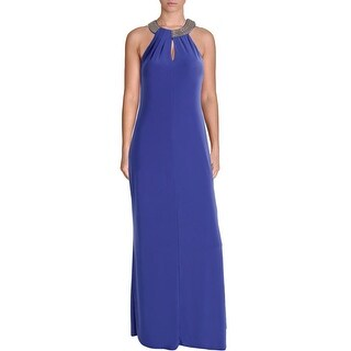 Laundry by Shelli Segal Womens Chain Halter Evening Dress