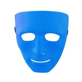 Unique Bargains Man Adjustable Flexible Band Full Face Plastic Mask for War Game