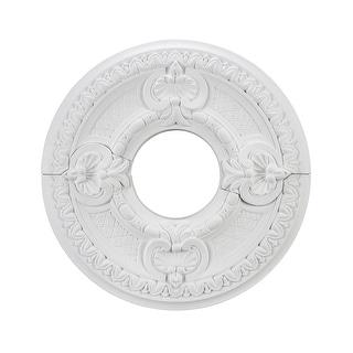 Aspen Creative 16 1 2 Diameter Ceiling Medallion 2 Piece White Overstock 32858130
