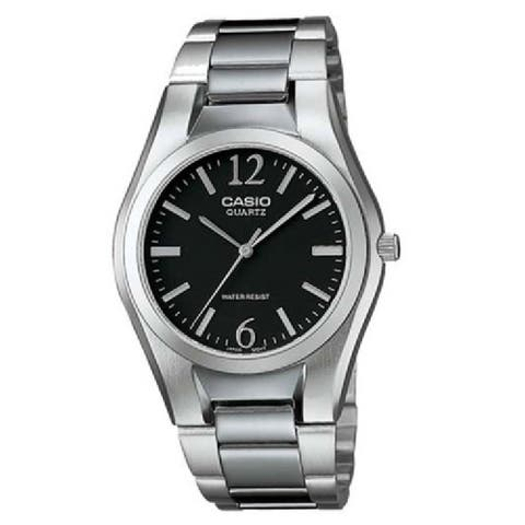 Casio Men's MTP-1253D-1A 'General' Stainless Steel Watch - Black