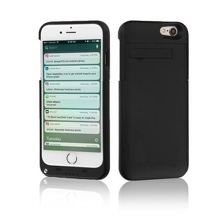Indigi® External Reserve Smart Battery Case for iPhone 7- 3200mAh - Black
