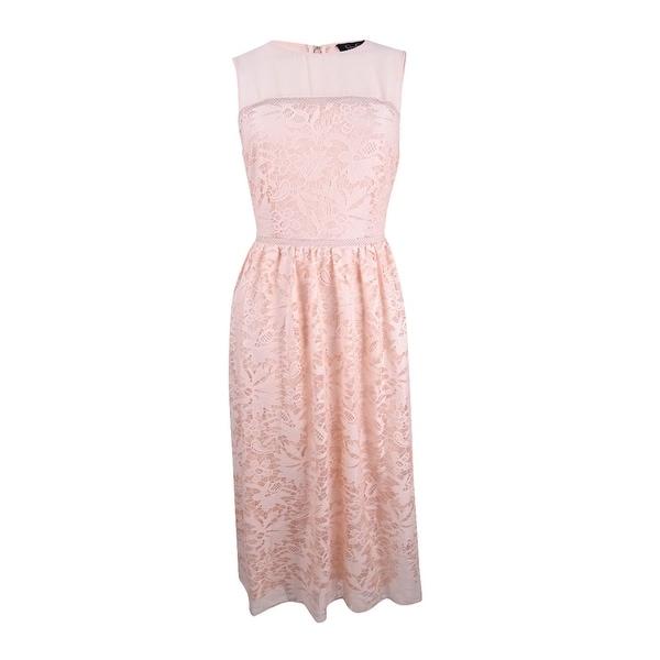 Jessica Simpson Women's Lace Dress (12, Blush) - Blush - 12
