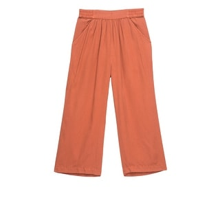 Bobeau Wide Solid Color Plus Size Crop Pant