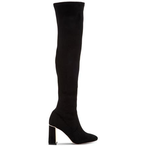 BCBGeneration Womens Aliana Square Toe Over Knee Fashion Boots