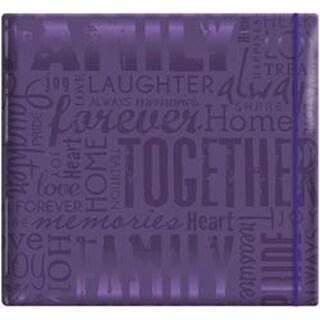 "Family - Purple - Gloss Post Bound Scrapbook 12""X12"""