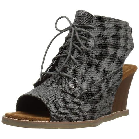 Bearpaw Womens Aracelli Peep Toe Casual Platform Sandals