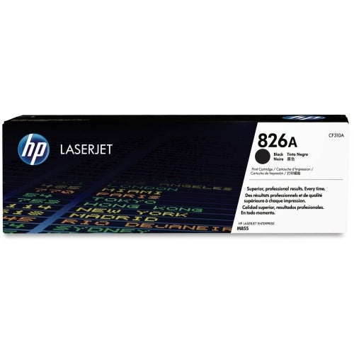 HP 826A Black Original LaserJet Toner Cartridge (CF310A)(Single Pack)