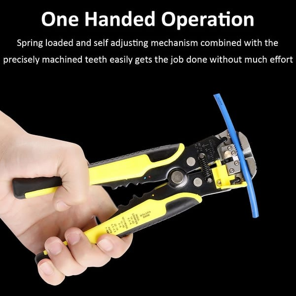 Automatic Self Cord Cable Crimper Stripping Cutter Adjusting Wire Stripper Tools