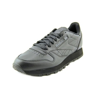 Reebok Classic  Men  Round Toe Leather Black Sneakers