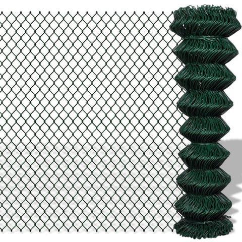"vidaXL Chain Fence 4' 9"" x 49' 2"" Green"