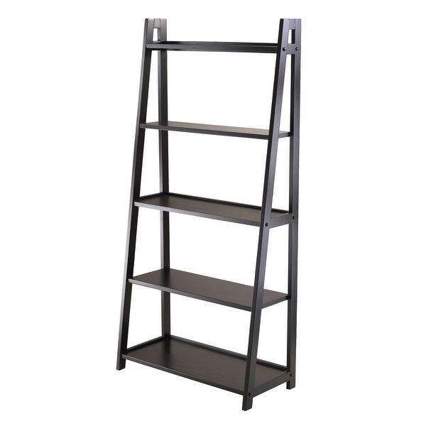 "58"" Black Elegant Adam 5-Tier A-Frame Decorative Shelf - N/A"