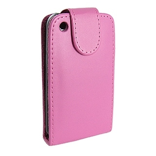 Unique Bargains Vertical Fuchsia Faux Leather Protector Case Pouch for iPhone 3G