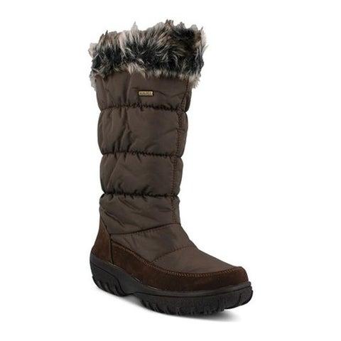 Spring Step Women's Vanish Quilted Waterproof Winter Boot Brown Nylon