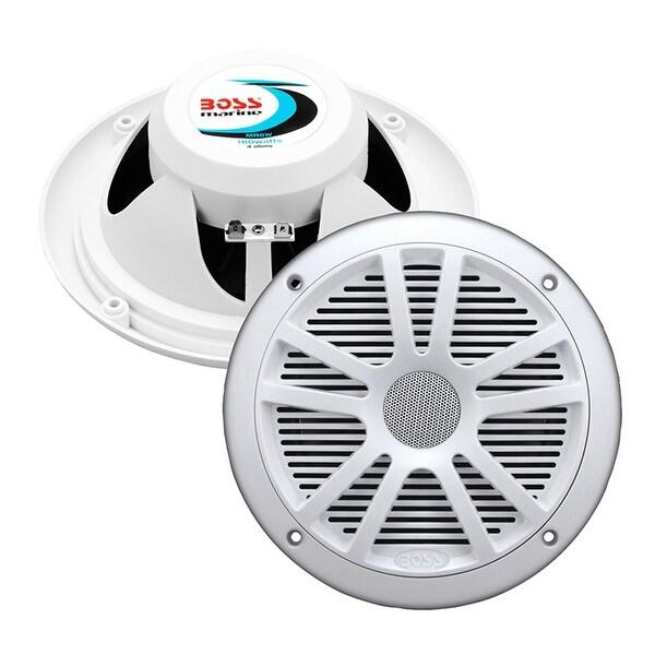 BOSS Audio MR6W 180 Watt (Per Pair), 6.5 Inch, Full Range, 2 Way Weatherproof Marine Speakers (Sold in Pairs)