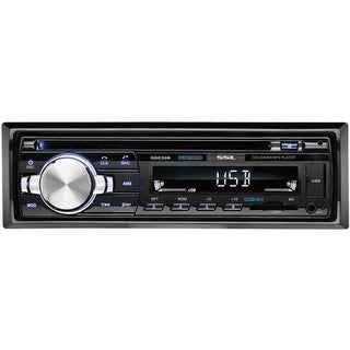 Single-Din In-Dash CD Receiver with Bluetooth