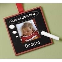 2 x 2 in. Black Chalk Board Photo Picture Frame Christmas Ornament