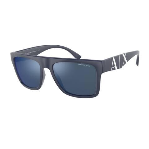 Armani Exchange AX4113S 818155 55 Matte Blue Man Rectangle Sunglasses
