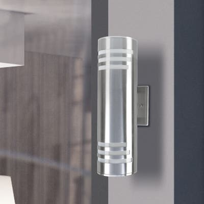 2 light Wall Sconce Modern Outdoor Lighting Cylinder Up Down Lamp