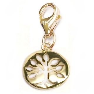 "Julieta Jewelry Tree of life Gold Charm 16"" Necklace"