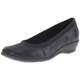 Soft Style Womens Rogan Embossed Lizard Print Slip On Shoes - 8 narrow (aa,n)