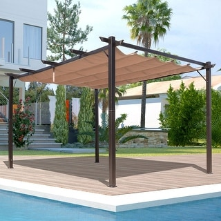 Outsunny Steel Outdoor Backyard Patio Canopy Cover - 10' x 13'