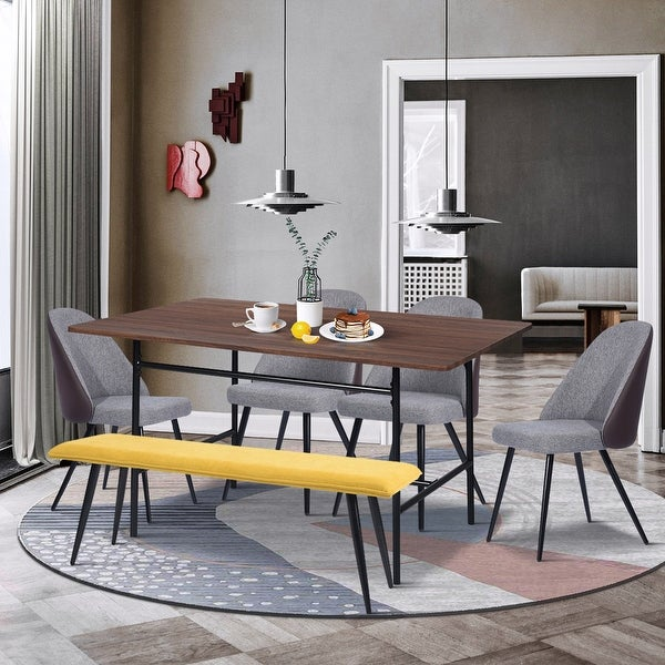Furniture R Mid-Century Modern 6-piece Dining Table Set. Opens flyout.