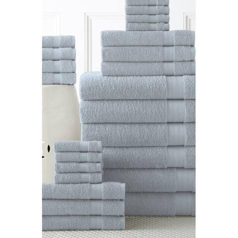 100% Cotton 24 piece Move-In Bundle Towel Set (2 Bath Sheets, 4 Bath Towels, 6 Hand Towels, 8 Wash Cloths, 4 Fingertip Towels)