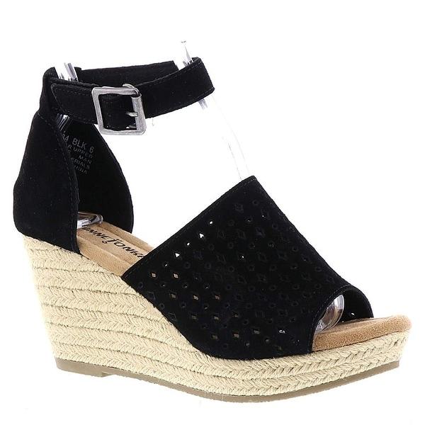 Minnetonka Bell Women's Sandal, Black, Size 6.0 - 6