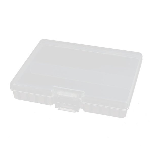 133mmx104mmx25mm Transparent Plastic Battery Case Organizer for AAA Batteries