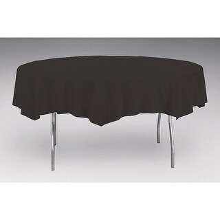 Touch Of Color Octy-Round Round Plastic Table Cover Black Velvet