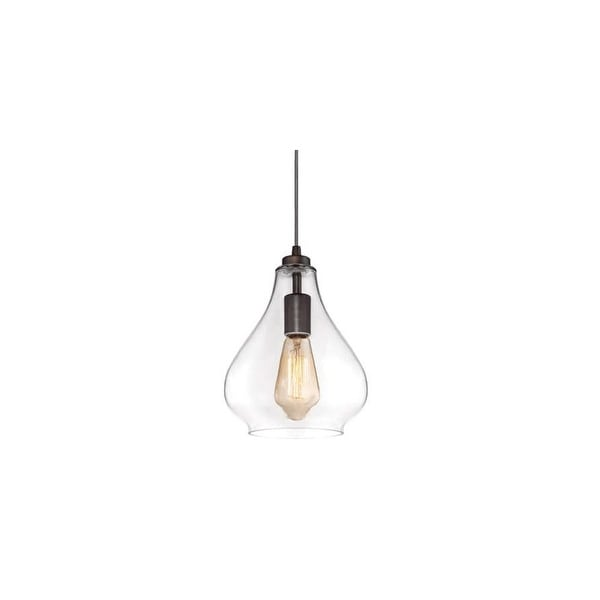 Westinghouse 6102600 1-Light Indoor Pendant with Clear Glass Shade - Oil Rubbed bronze - n/a