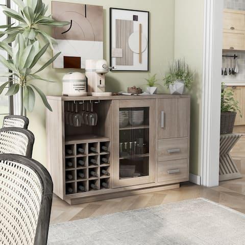 Furniture of America Diz Modern 47-inch Wine Bar Dining Server
