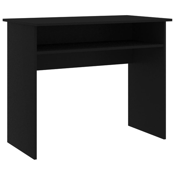 "vidaXL Desk Black 35.4""x19.6""x29.1""Chipboard. Opens flyout."