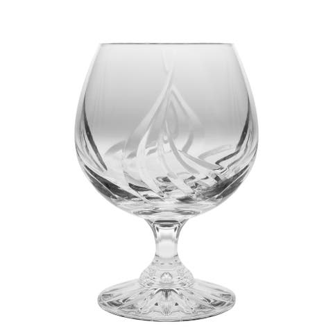 Crystal - Sherry - Brandy - Snifter - Glasses - Set of 6 - Handcrafted - Crystal Glass - Bourbon - Wine - 11 ounce