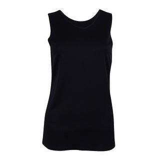 NY Collection Women's Sleeveless Reversible Top - Black - S