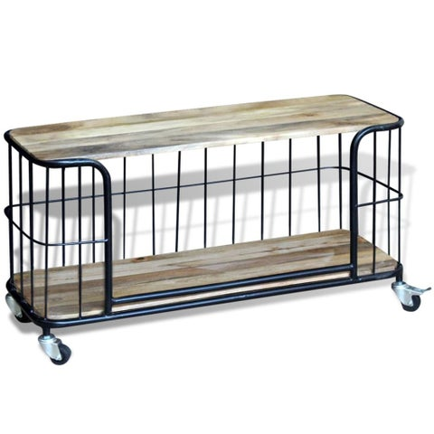"vidaXL TV Cabinet Solid Mango Wood 39.4""x15.7""x17.7"""
