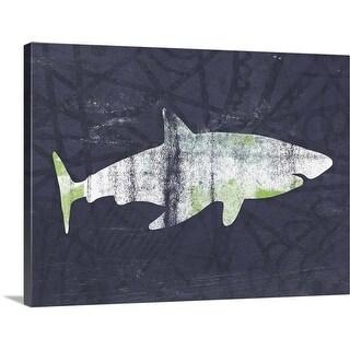 """Shark I"" Canvas Wall Art"