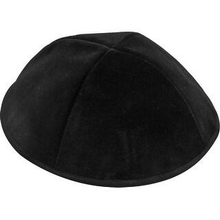 4 Part Black Yarmulke With Rim Small sizes